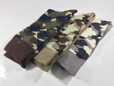 3 Pairs MENS CAMO/CAMOUFLAGE Cotton-Rich Socks 6-11, army/khaki/military