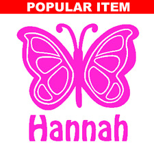 Butterfly & Name Decal Sticker for Car, Yeti, Laptop, Travel Mug, Tumbler.