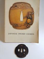 Antique Iron Tsuba Edo Era Japanese Sword Guard Samurai Katana Original Rare 08