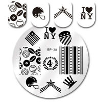 BORN PRETTY American Theme Nail Art Stamping Stamp Template Image Plate BP38