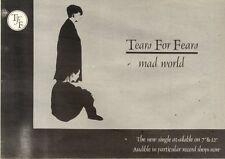 4/9/1982Pg7 Single Advert 7x10 Tears For Fears, Mad World