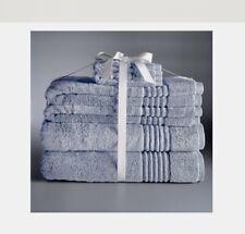 New Simply Vera Wang Signature Super Soft 6 pc Bath, Hand Towel Set - Periwinkle