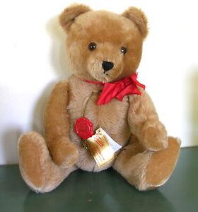 """Hermann classic Teddy Bear 16"""" German vintage NWT felt paws tags"""