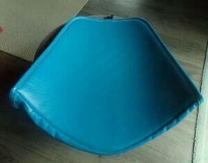 MID CENTURY MODERN KNOLL BERTOIA DIAMOND WIRE CHAIR BLUE VINYL SEAT CUSHION