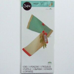 CLEARANCE Sizzix Thinlits 5 Dies - Triangle Gift Box by Debi Potter 661688 New