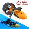 Waterproof 300W Electric Underwater Scooter Water Sea Pool Propeller Diving NEW✅