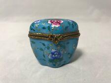 Vintage Limoges-Pierre Arquie-Peint Main-Porcelain Floral Trinket Box