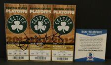 Danny Ainge Auto 2012 NBA Finals Phantom Ticket Stub Boston Celtics Beckett 78