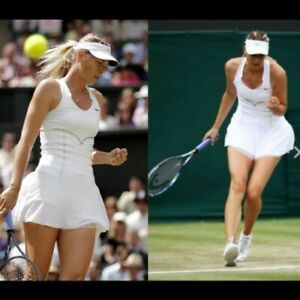 Nwt NIKE Maria Sharapova Active Tennis Dress w/ Bra M Medium mesh skirt White