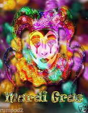 MARDI GRAS Poster//Print17x22 inches//February 2015//Music Jazz bands
