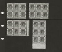 4 Blocks Of 6 MNH Twenty Cents 1938 - 1948 Hong Kong King George VI Mint 20c