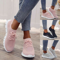 Womens Breathable Sneakers Casual Shoes up Sports Running Lace Trainers Ladies