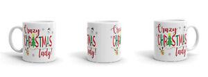 Crazy Christmas Lady Snowflakes 11oz Mug Cup - Funny Joke Secret Santa