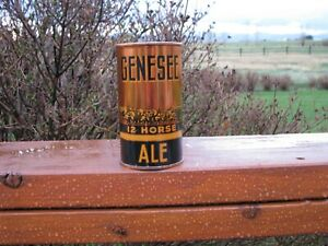 Stunning GENESEE 12 Horse Ale Flat Top Beer Can