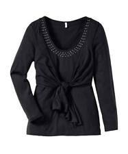 Mehrfarbige Langarm Damenblusen, - tops & -shirts mit Übergröße