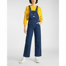 LEE WIDE OVERALL RELAXED WORKER BIB DUNGAREES DENIM BIB BRACE - SMALL W26 UK6-8