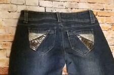 Rue 21 women blue jeans Size 13/14 embellished