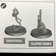 Warhammer 40k - Deathwatch - Kill Team Cassius - Teleport Homer & Servo Skull