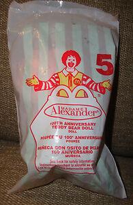 2002 McDonald's Happy Meal Madame Alexander 100th Anniversary Teddy Bear Doll