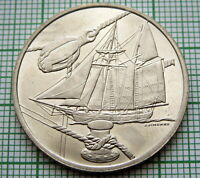 HOLLAND NETHERLANDS 2000 AMSTERDAM SAIL 5 FLORIN COIN, SAILING SHIP, UNC