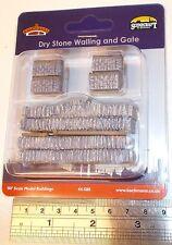 Bachmann 00 Scenecraft 44-580 - Dry Stone Walling & Gate - New (00)