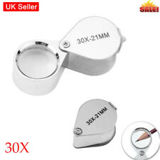 Mini 30X Jewellers Loupe Glass Jewellery Antiques Magnifier Hallmark Eye Lens