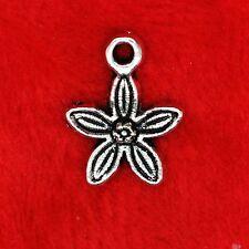 15x tibetan silver star en forme de Fleur Daisy charme pendentif perles faire trouver