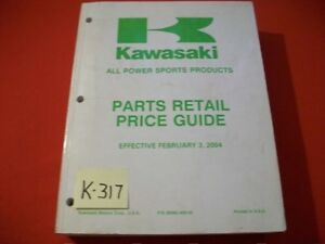 KAWASAKI ALL POWER SPORTS PARTS PRICE GUIDE W/ ORIGINAL FACTORY PARTS NUMBERS!