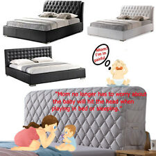 Luxury Cotton Thicken Quilted Headboard Cover Bed Head Back Protector Slipcover