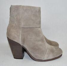 CELEBS!! $550+ rag & bone Newbury Ankle Boot Bootie WAXED SUEDE bone  37.5 (wr1)