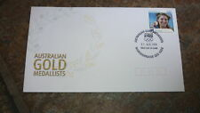 2004 AUSTRALIAN OLYMPIC GOLD MEDAL STAMP FDC, ANNA MEARES CYCLING MAROOCHYDORE