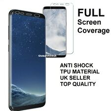 FULL SCREEN Face Curved TPU Screen Protector Clear Cover for Samsung Galaxy S8
