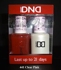 DND Daisy Soak Off Gel Polish Clear Pink 441 full size 15ml LED/UV gel duo