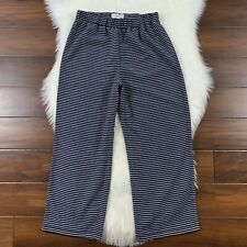 Madewell Women's Size XS Navy Blue White Stripe Crop Pull On Pants