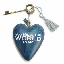 WORLD TO ME Art Heart Sculpture Ornament Key to My Heart New valentine