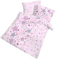 Dobnig Baby Bettwäsche Patchworksterne rosa Biber Ökotex