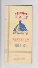 Feuerio Große Carnevalgesellschaft Mannheim Fasnacht 1961-62 Fotos Werbung