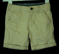 Boys George Stone Light Brown Adjustable Waist Chino Cotton Shorts Age 4-5 Years