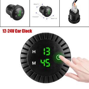 12V-24V Marine Car SUV Interior Clock Refit LED Luminous Circular Time Display