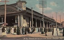 Postcard Railroad A Few Friends Who Me Me at the Station Lancaster PA 1912