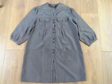 MARKS AND SPENCER GREY & BLACK STRIPED TUNIC SIZE 14