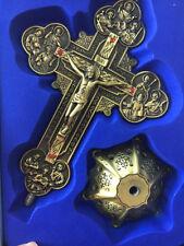 Antique Bronze INRI Catholic Religious Altar standing Wall Crucifix Cross Church