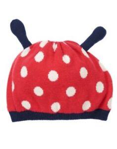 GYMBOREE SMART LITTLE LADY LADYBUG SWEATER HAT 0 12 24 2T 3T 4T 5T NWT