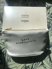NEW, Chanel Coco Mademoiselle Makeup Bag, White Accessory