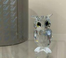 Swarovski Crystal Figurine Night Owl Barn Owl 206138 - 7636 000 002 In Box