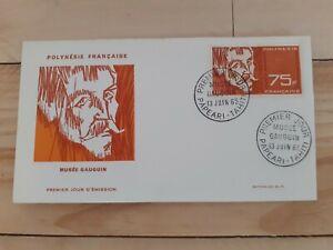 Enveloppe 1er jour Polynésie Française 1965 Musée Paul Gauguin