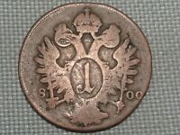Holy Roman Empire Austria 1800 A 1 Kreuzer Kaiser Franz II Crowned Double Eagle