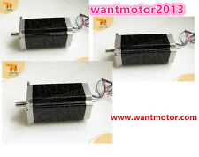 EU Free! Schrittmotor Wantai Nema23 3PCS Stepper Motor 425oz-in 4.2A Dual Shaft