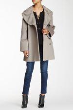 NWT Cinzia Rocca Shawl Collar Wool Coat Taupe US 12 UK 16 N540001 ITALY $1025