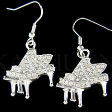Grand Baby Piano~ made with Swarovski Crystal music Musical Instrument Earrings